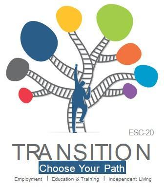 Region 20 Transition Logo-Tree with Branches that shows all the paths a student can take to meet post secondary goal
