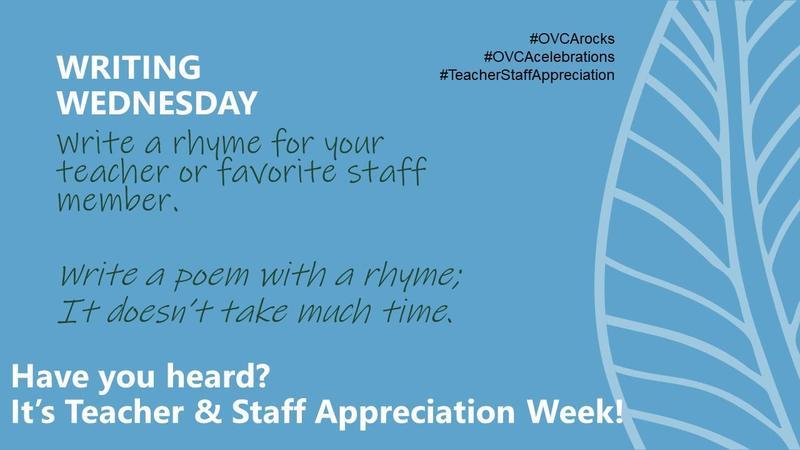 Teacher & Staff Appreciation: Writing Wednesday Featured Photo