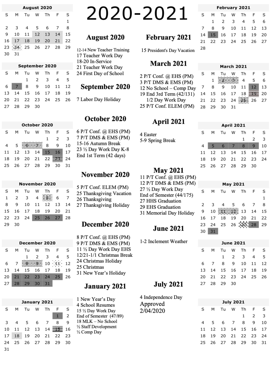 Ucsd Calendar 2021 2020 2021 School Calendar – Human Resources – Uinta County School