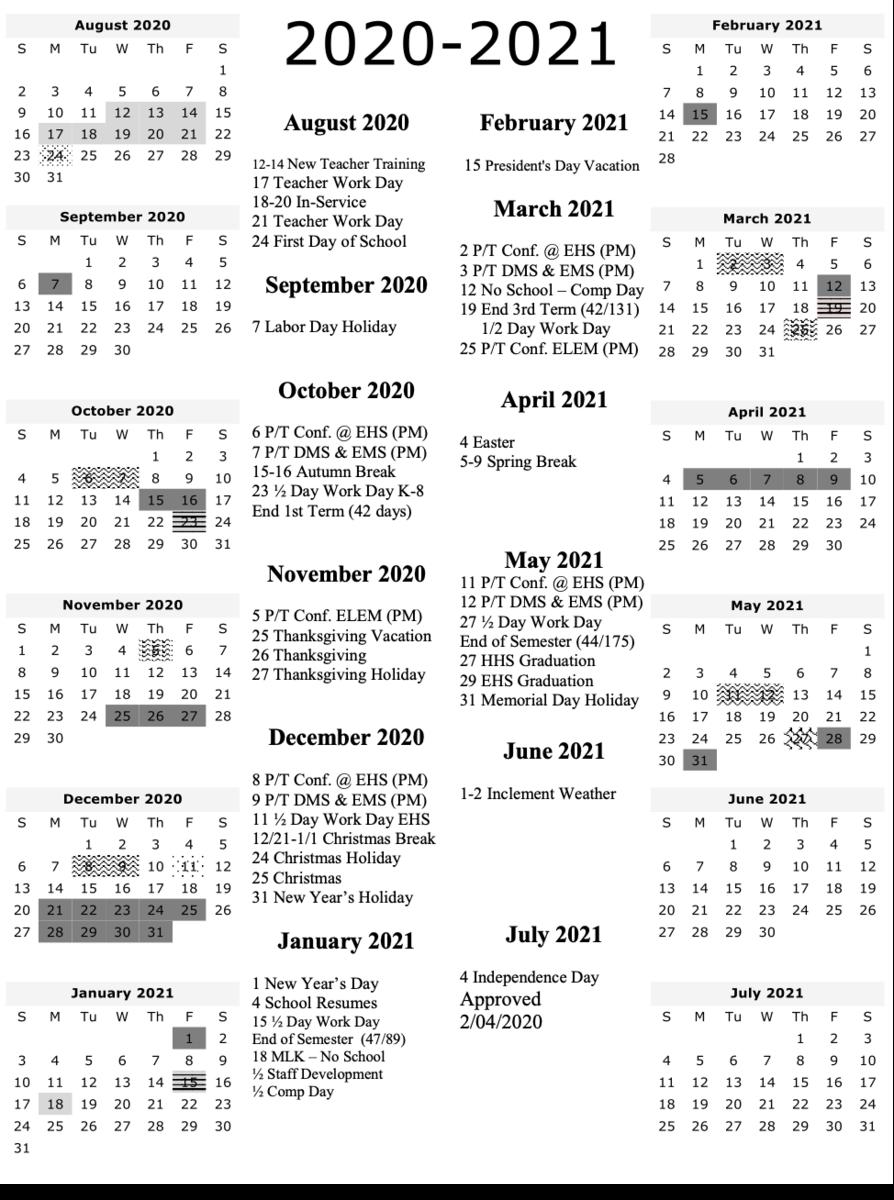 2020 2021 School Calendar – Human Resources – Uinta County School