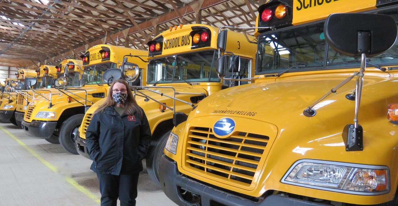A TK bus driver retires after 27 years.
