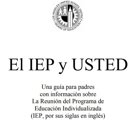 EL IEP y USTED