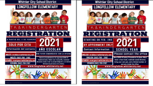 TK/Kindergarden Registration/Registro de TK / Kindergarden