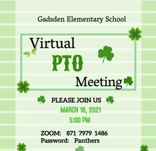 Virtual PTO  3/18/21 @ 5:00 P.M. Featured Photo
