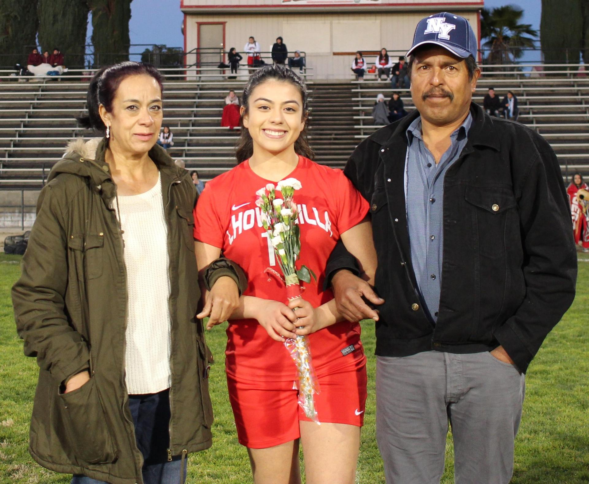 Gabby Padilla at soccer senior night