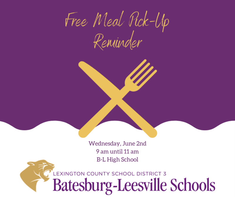 Free Meal Pick-Up Event Planned for June 2nd