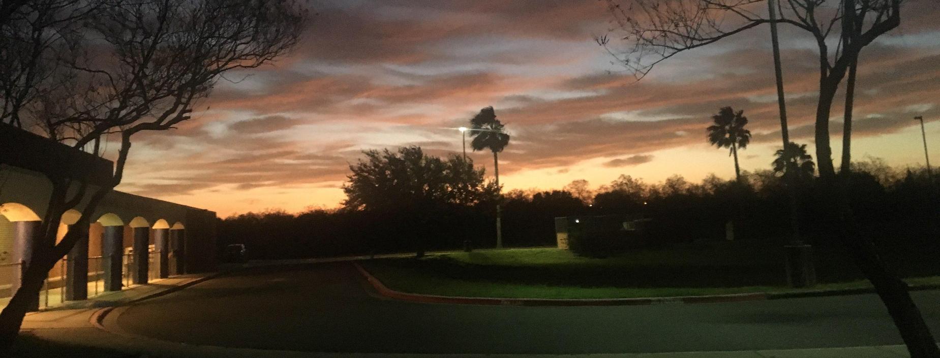 Guerra at dawn. Waiting for morning tutoring to begin.