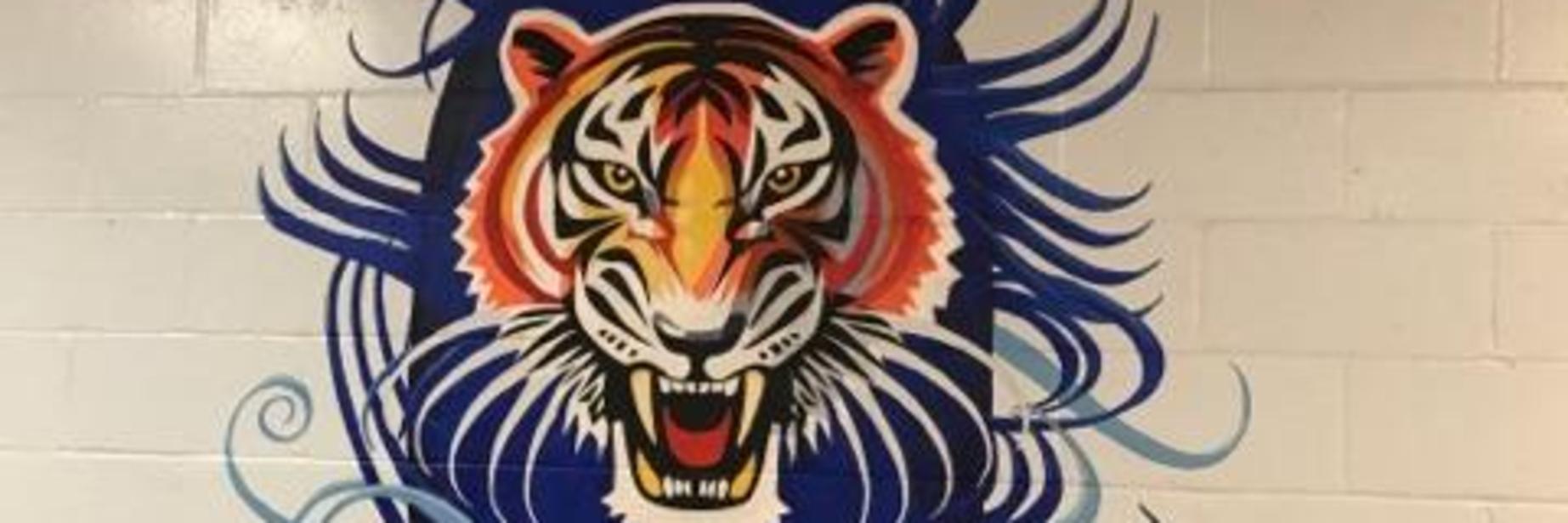 malone mascot mural