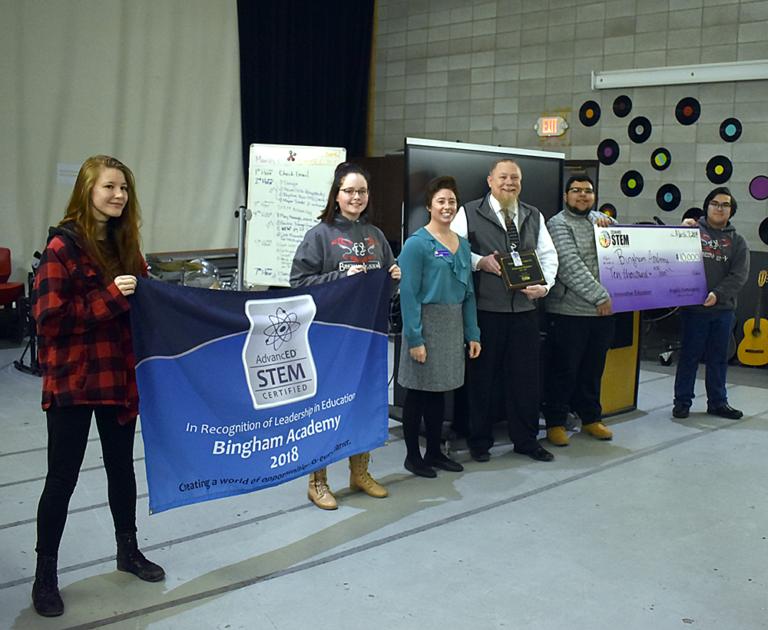 Group photo of STEM accreditation ceremony.