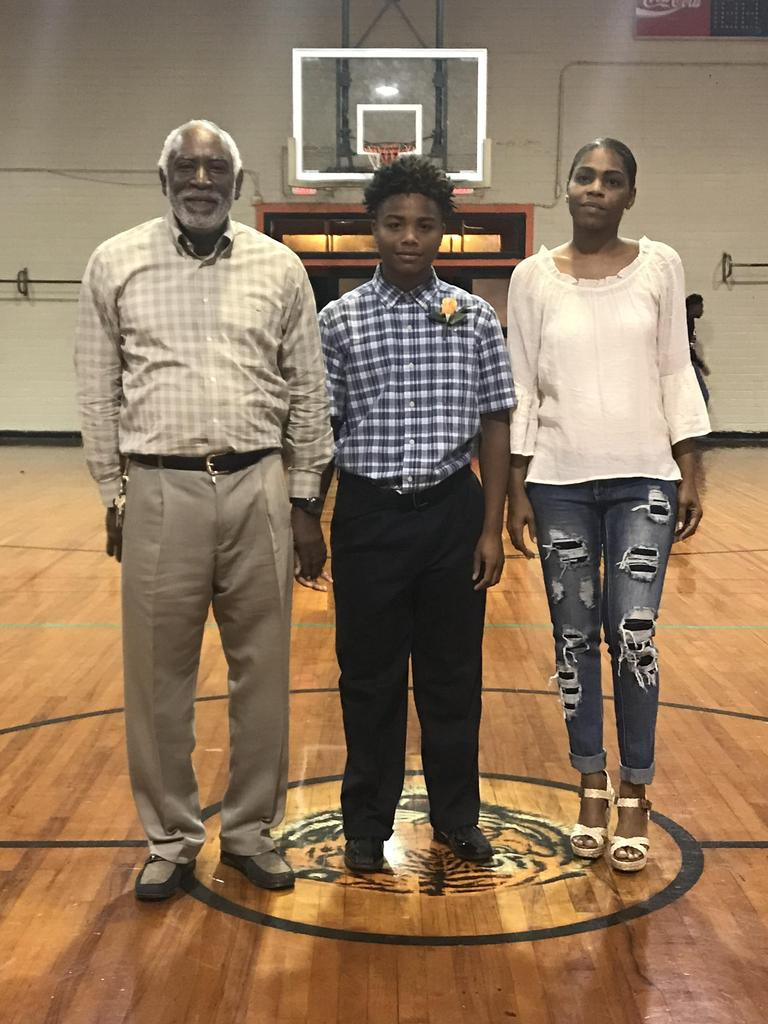 parents and basketball honoree