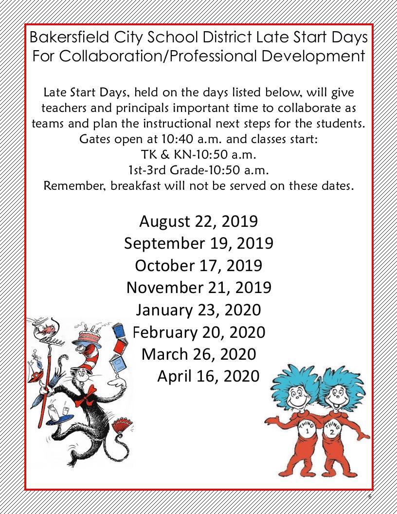 Late Start Dates