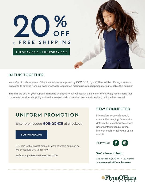 UNIFORM DISCOUNTS & SHOPPING RESOURCES FOR YOUR FAMILIES Featured Photo