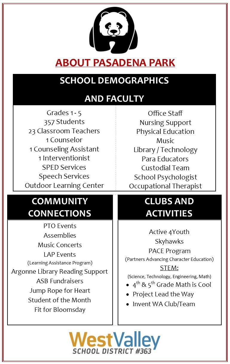 About Our School – About Our School – Pasadena Park