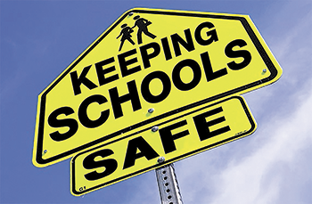 Image that read Keep Schools Safe