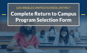 Image to complete program selection form