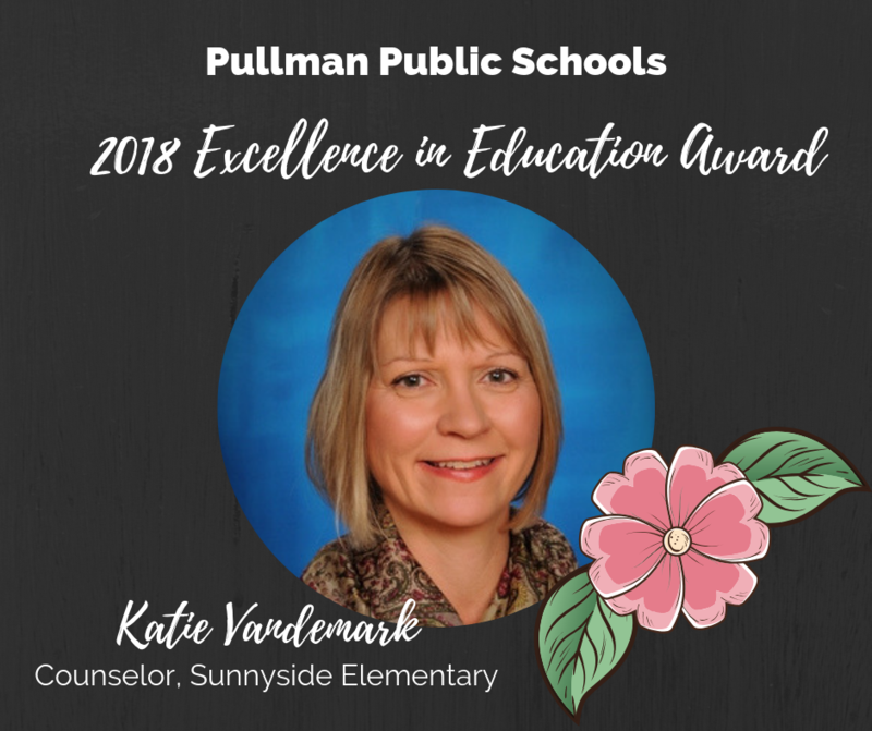 Mrs. Katie Vandemark, Sunnyside Counselor, named recipient of the board's first ever