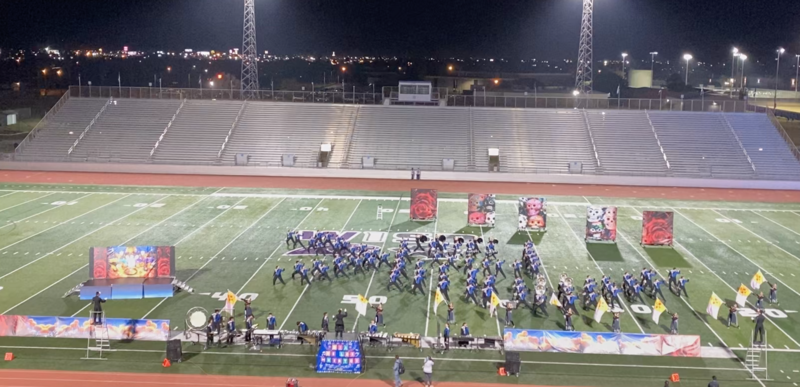 VMHS Band at the UIL 5A Area G Marching Contest