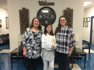 Blackman Elementary fifth-grader Erica Searcy