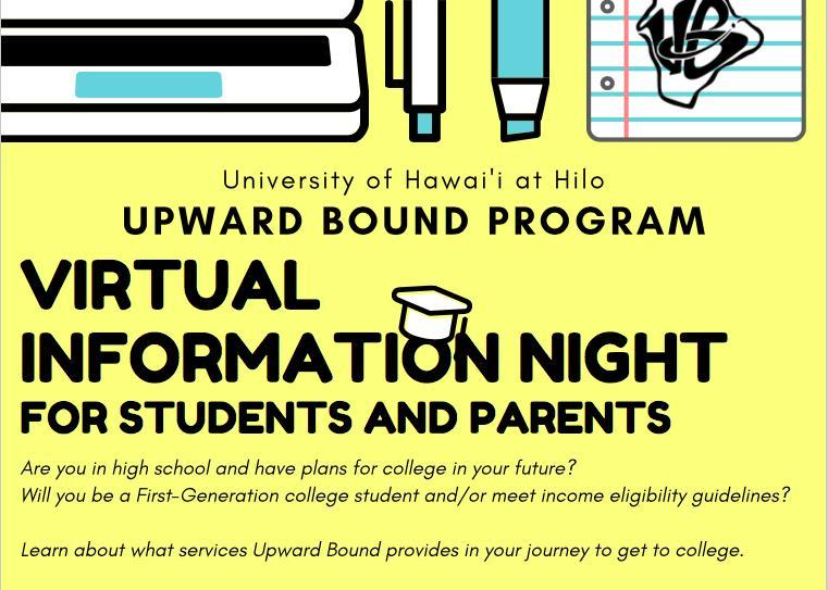 Upward Bound Virtual Information Nights Featured Photo