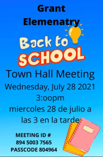 Back to School Zoom Meeting 2021-2022 School Year/Reunion de Regreso a Clases Año Escolar 2021-2022 Featured Photo