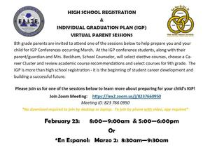 IGP info and Zoom meeting link