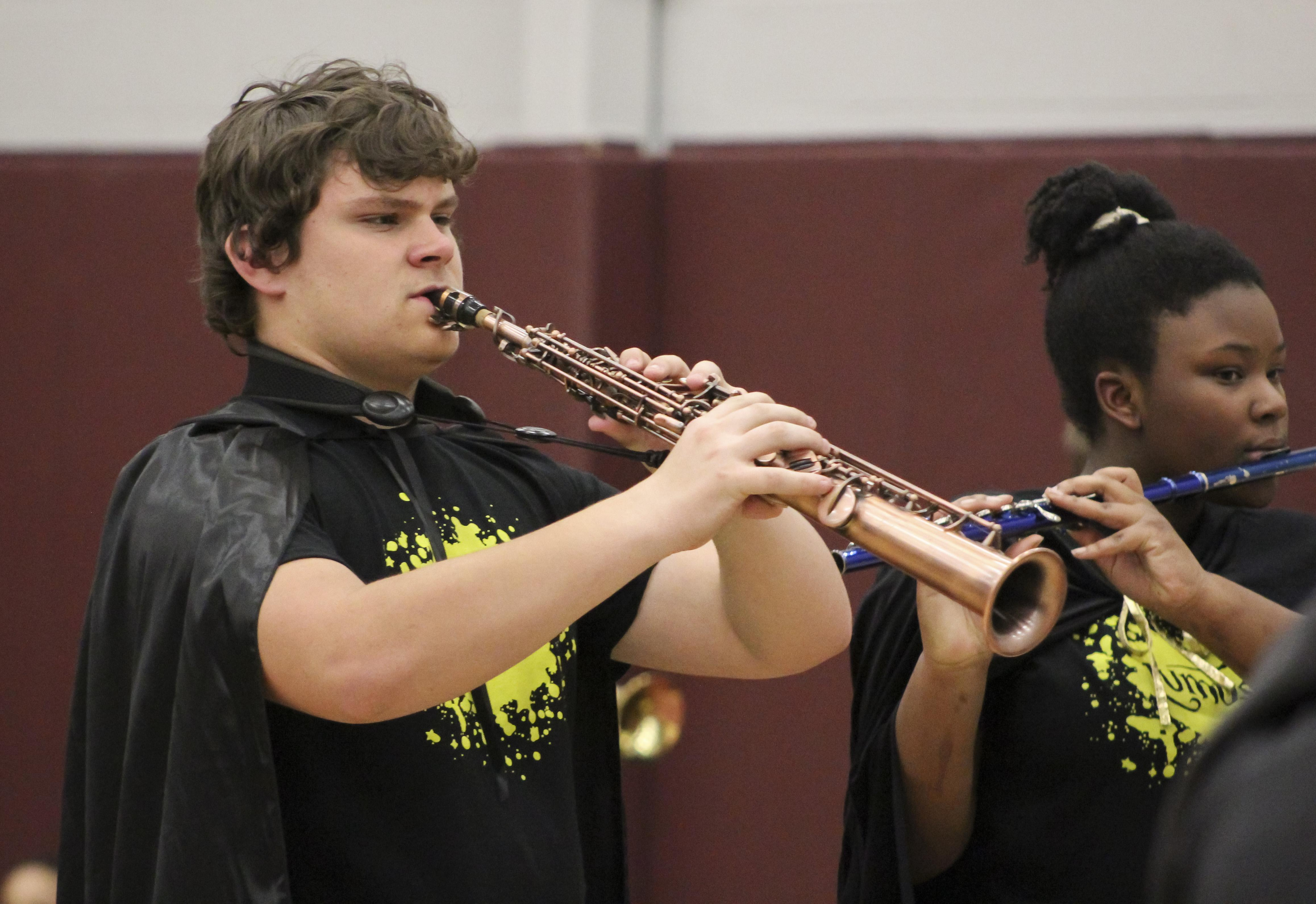 CHMS student playing clarinet