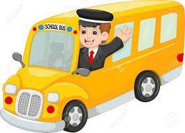 Cartoon bus driver