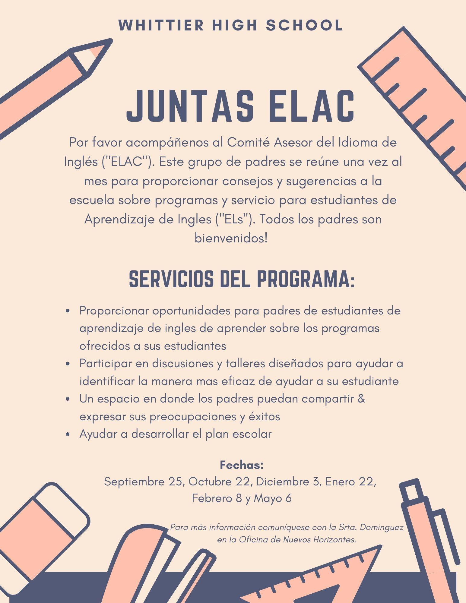 ELAC Info Spanish