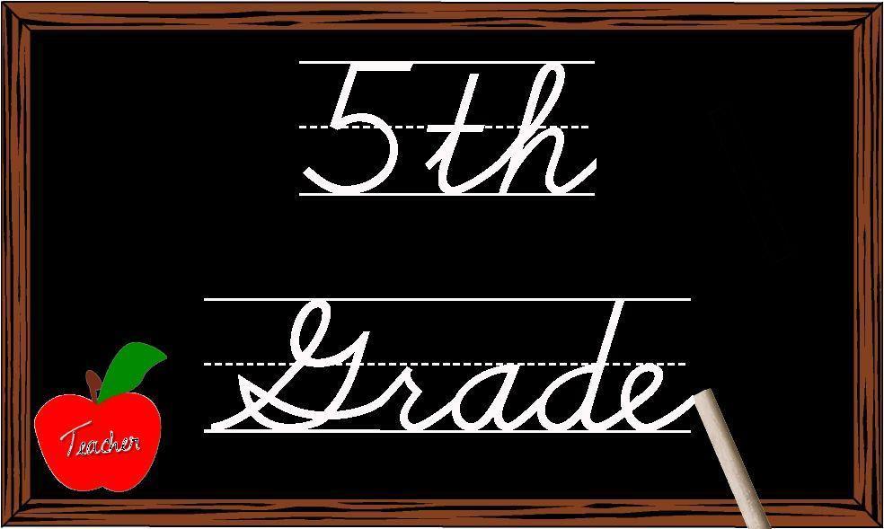 blackboard for 5th grade