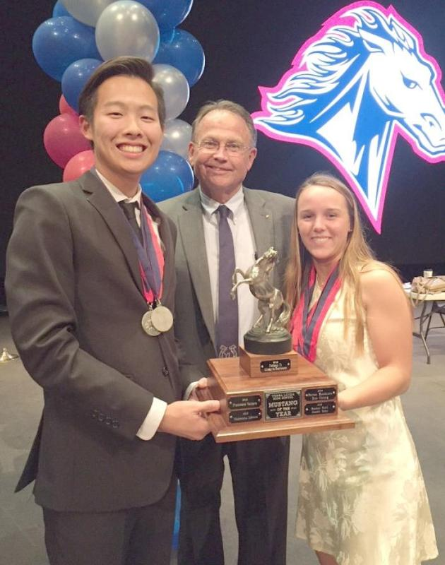 Principal Flynn with Mustang Of The Year winners