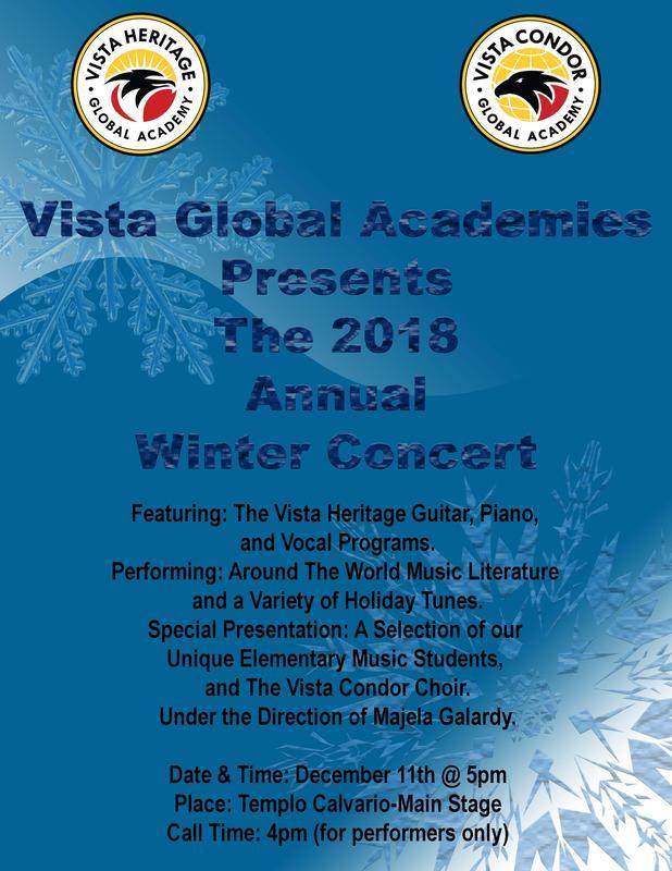 Vista's Annual Winter Concert Featured Photo