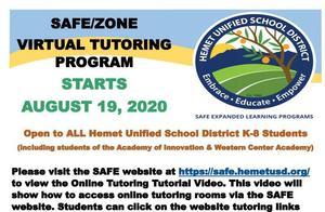 SAFE Flyer to provide tutors