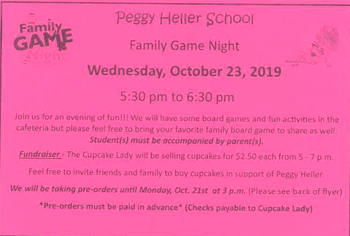 Family Game night flyer