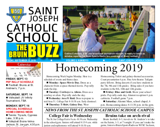 THE BRUIN BUZZ: FRIDAY, SEPT. 13, 2019 Featured Photo