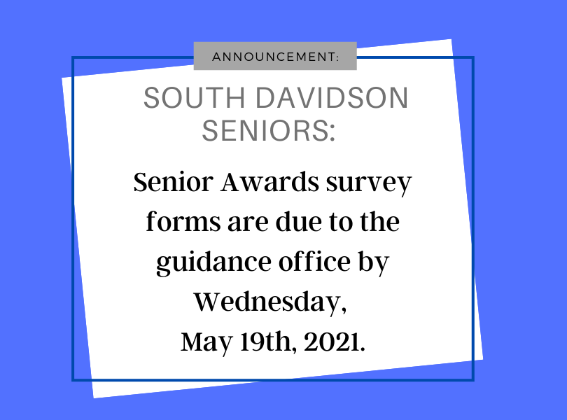 Senior Awards Forms due date