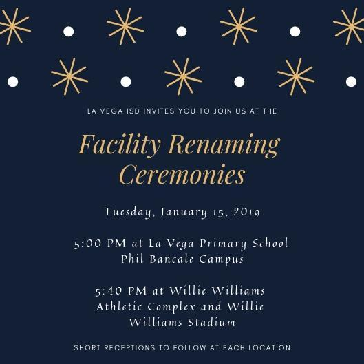 Facility Renaming Ceremonies Thumbnail Image