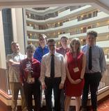 Pictured are students who went to State Competition in Charleston with FBLA.