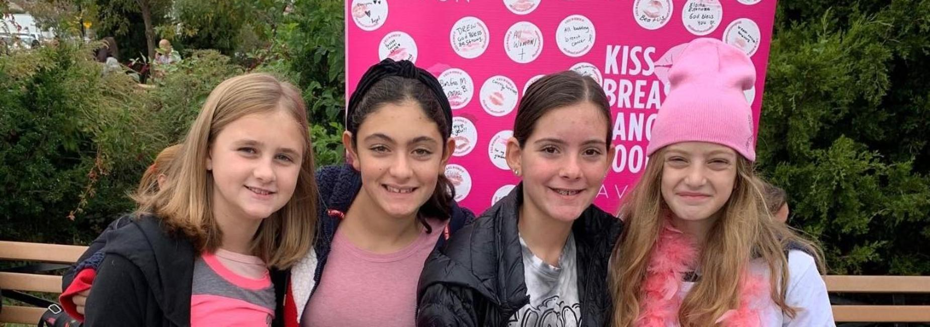 4 Girls at Breast Cancer Walk