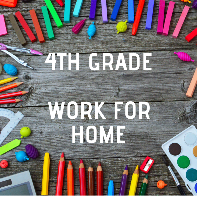 4th Grade - Work for Home Featured Photo