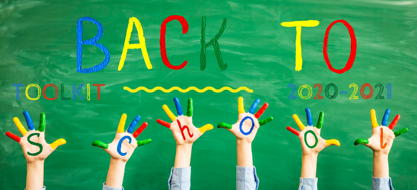 hands painted to spell back to school toolkit