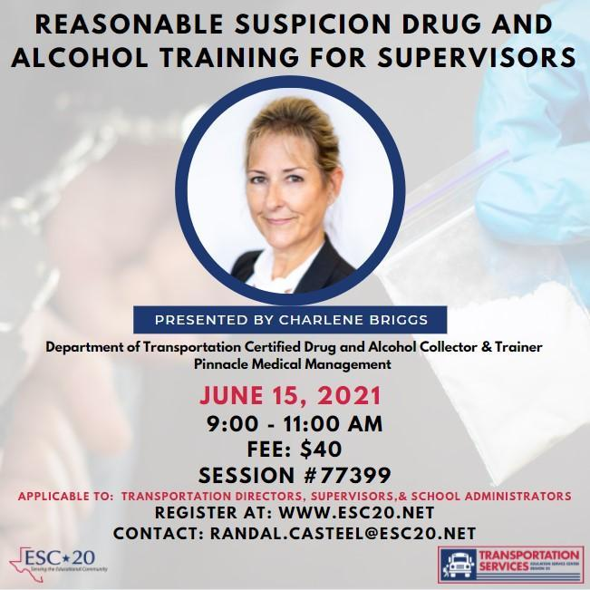 Reasonable Suspicion Drug and Alcohol Training for Supervisors