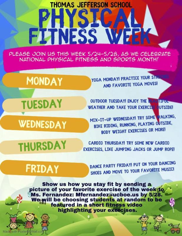Physical fitness week schedule