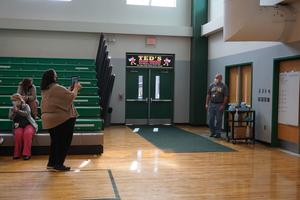 Mr. Atwell is surprised at ceremony