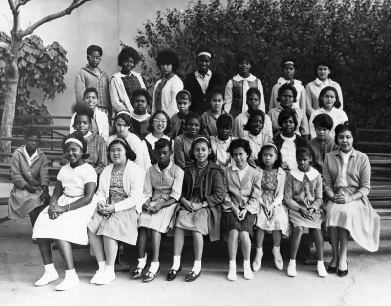 Students and teacher. Photo was taken 1965.