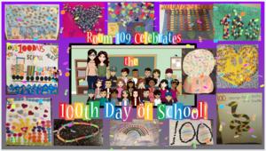 100 days collage