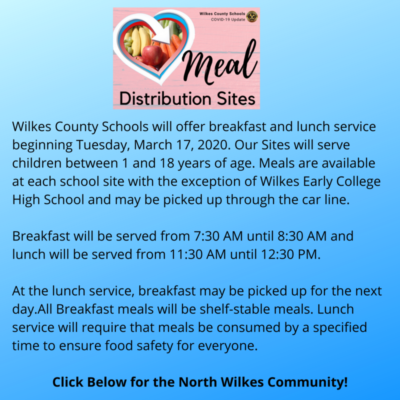 Meal Distribution for the North Wilkes Community - Click Here for Further Information Thumbnail Image