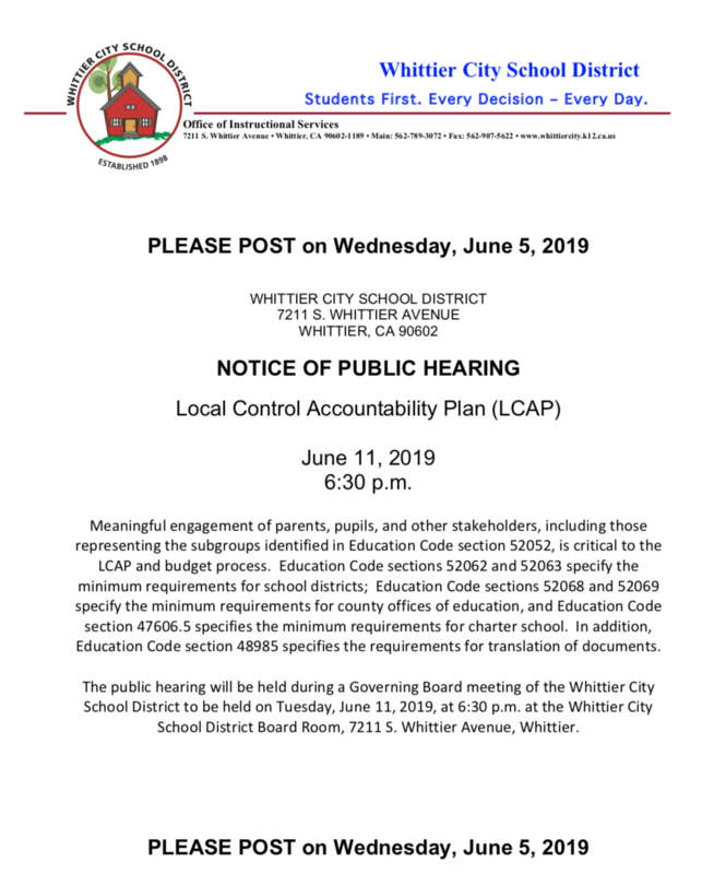 Image of a PDF to Link to Public Hearing Notice
