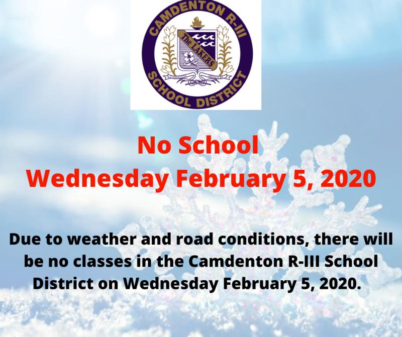 No School - Wednesday February 5, 2020 Featured Photo