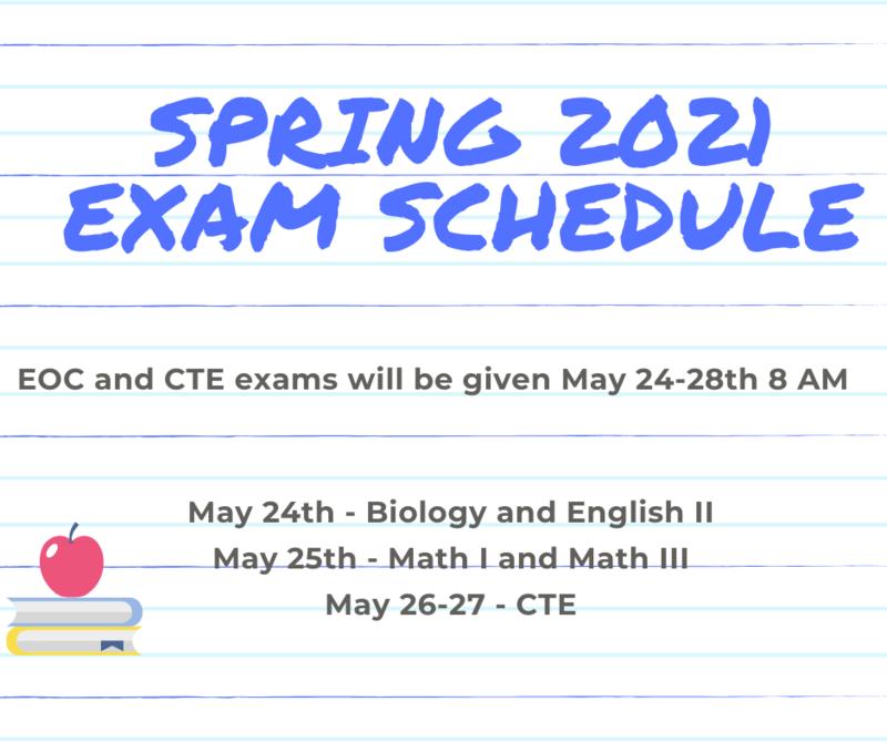 Spring 2021 Exam Schedule Featured Photo