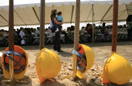 photo of shovels at YLHS groundbreaking